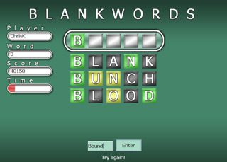 BlankWords screen shot 1